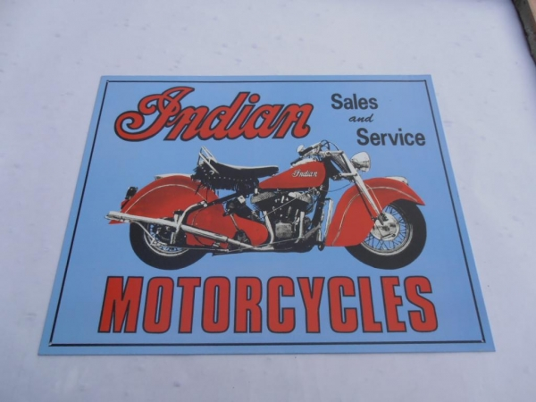Indian Motorcycle Sales Advertising Sign