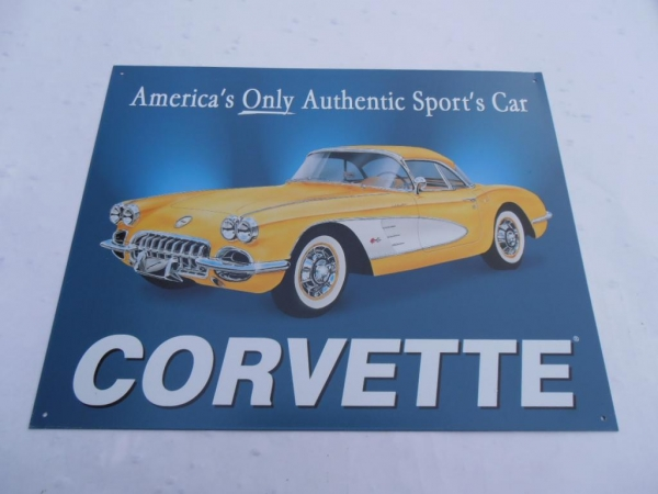 Corvette Classic Car Advertising Sign