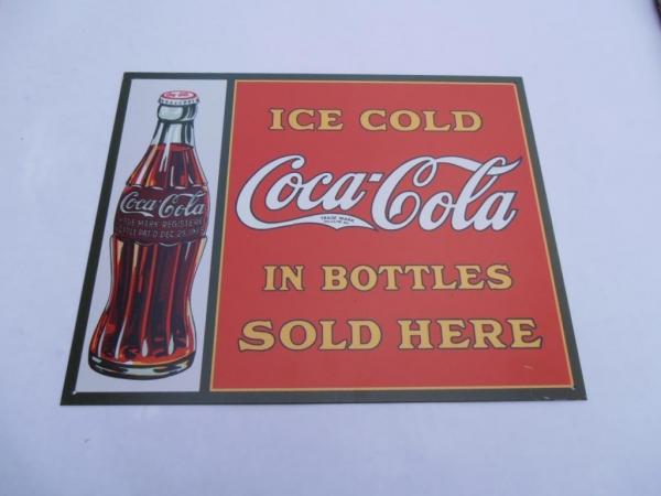 Coke Sold In Bottles Advertising Sign