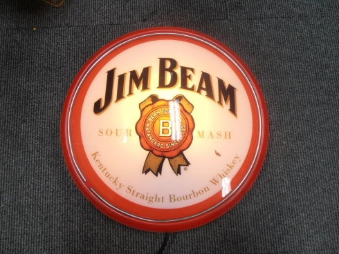 Jim Beam Wall Mount Light Up Globe